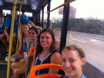 After an electric cart ride to the village gate, we hopped on to a public transit bus