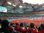 Great crowd for decathlon javelin!