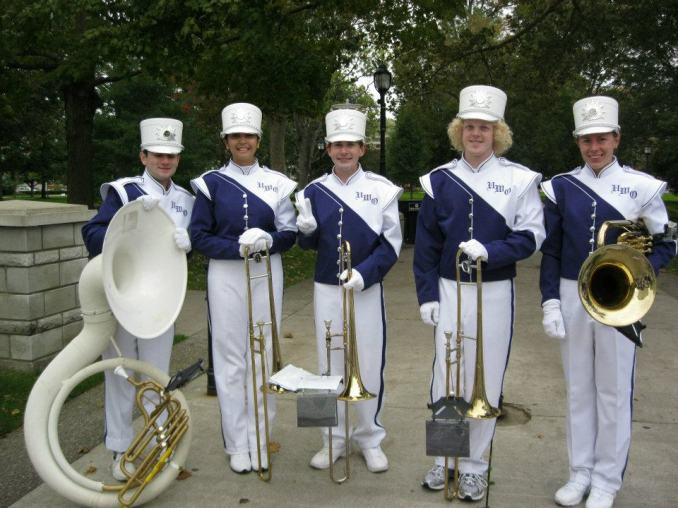 Some members of the Western Mustangs Band at Homecoming (2012)