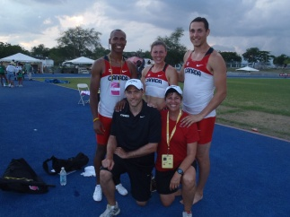 Family portrait at the 2011 Pan Am Combined Events Cup, Kingston Jamaica