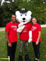 Damian and I with Juno at the Strength Behind the Uniform Charity Walk/Run, London (2012)
