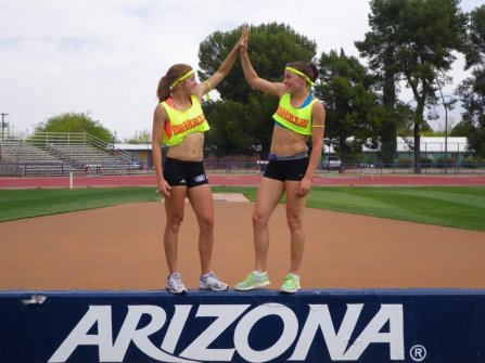 Caroline Ehrhardt and I at training camp in Tucson Arizona (2011)