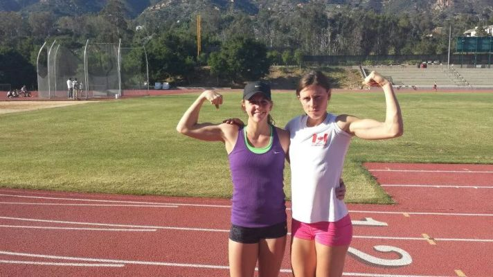 Great friend and jumper Caroline Ehrhardt and I at training camp in sunny Santa Barbara (2014)